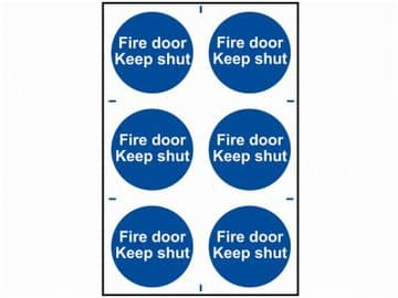 Fire Door Keep Shut - PVC 200 x 300mm